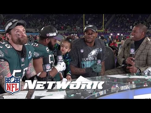 Chris Long, Brandon Graham, & Alshon Jeffery Post Super Bowl LII Interview| NFL GameDay Prime