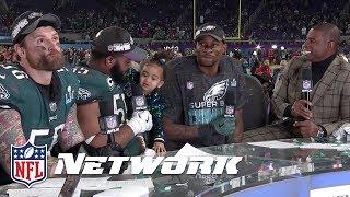 Chris Long, Brandon Graham, & Alshon Jeffery Post Super Bowl LII Interview    NFL GameDay Prime