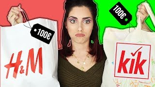 kik vs H&M 🚫komplettes Outfit von kik outfit challenge I Spargel lässt grüßen 🥒