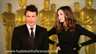 James Franco & Anne Hathaway Discuss Hosting The Oscars