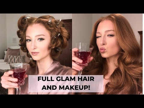 How to Prepare for a Special Event! Full glam hair and makeup