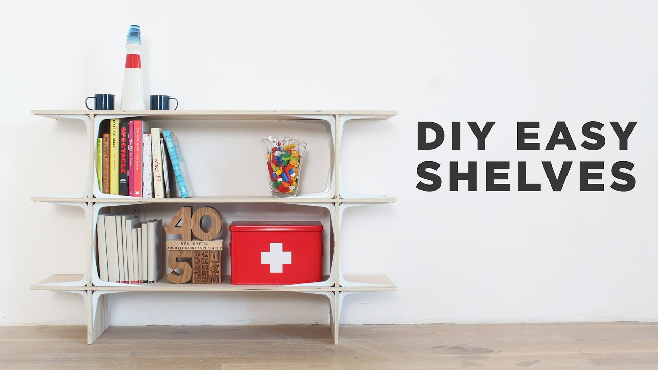 Diy easy shelves youtube for Easy diy shelves