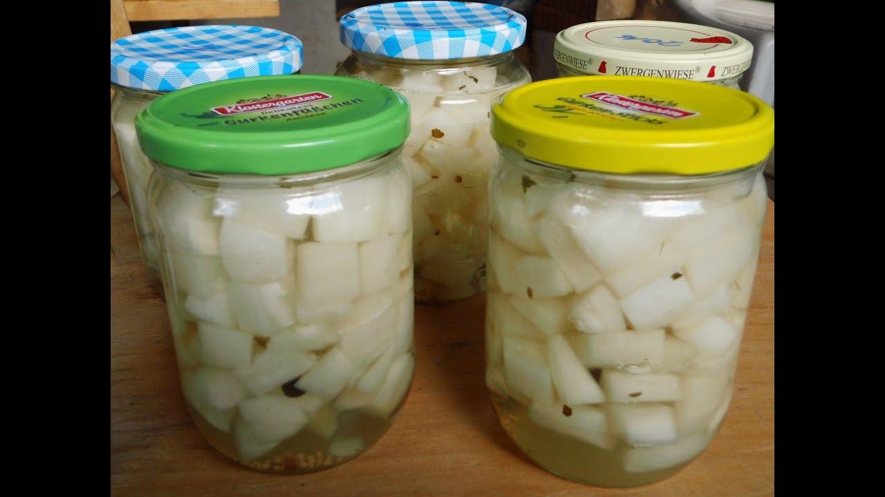 Gurken einkochen mit schraubgläsern