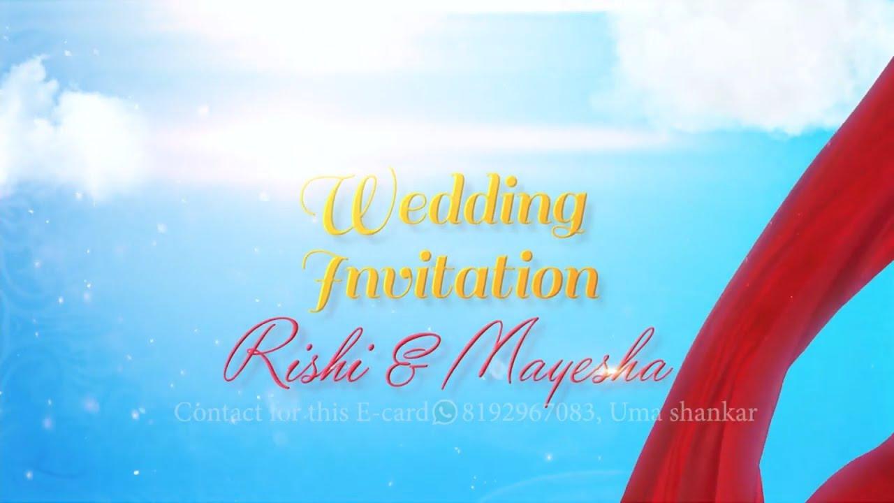 wedding invitation 2020  e card  whatsapp invitation