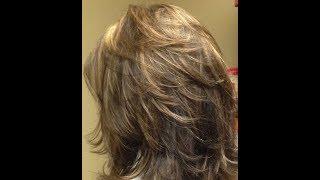 طريقة قص الشعر ديكرادي قصيرة خطوه بخطوه   (90 درجه) short layers haircut