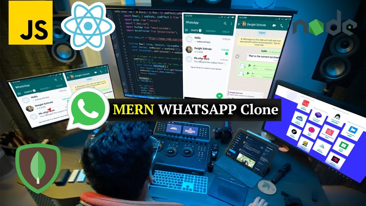 Build a Whatsapp Clone with MERN Stack (MongoDB, Express, React, Node)