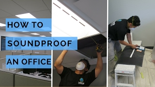 Soundproofing an office ceiling