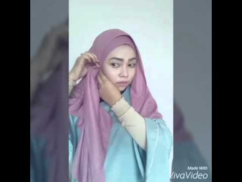 Tutorial Shawl Elfira Loy Satin Crepe Shawl