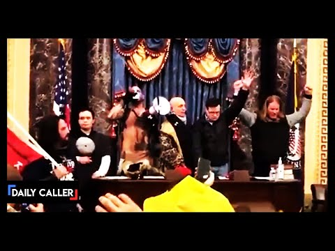 New Footage Shows The Inside Of The Senate Chamber At The Capitol Riot