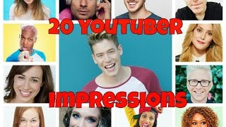 20 YOUTUBER IMPRESSIONS!
