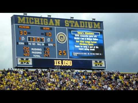 Michigan Stadium Attendance Record Announced to the Crowd