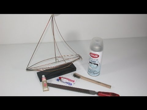 a sailboat simple wire work youtube. Black Bedroom Furniture Sets. Home Design Ideas