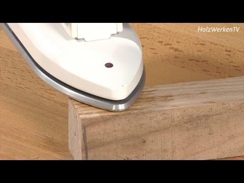 ganz geb gelt druckstellen im holz einfach entfernen youtube. Black Bedroom Furniture Sets. Home Design Ideas