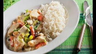 Курица в сметане с овощами. Куриная грудка с овощами. Chicken and vegetables