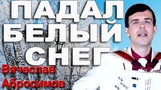 ПАДАЛ БЕЛЫЙ СНЕГ под баян - поет Вячеслав Абросимов (кавер Артур)