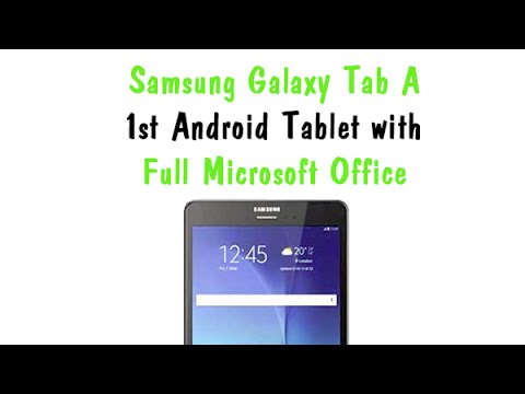 Microsoft Office for Android tablets quick look! - YouTube