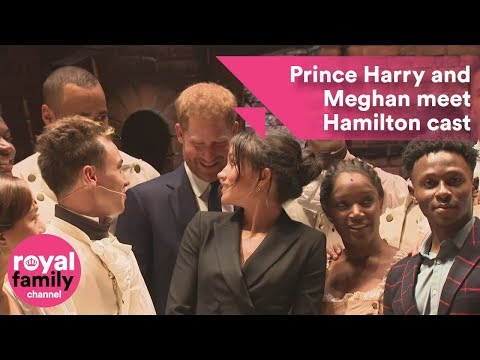 Prince Harry and Meghan meet Hamilton cast backstage