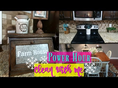 Power Hour Clean With Me//Morning Cleaning Routine/Keep Calm And Clean
