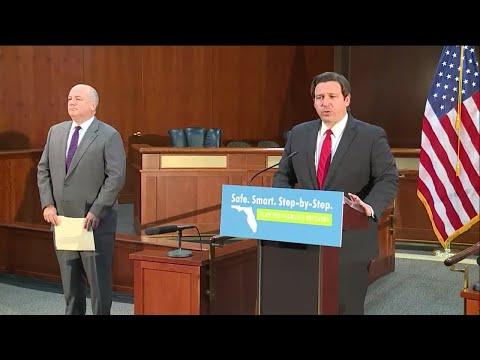 NEWS CONFERENCE: Gov. DeSantis, Jonathan Satter Update On Florida Unemployment (43 Minutes)
