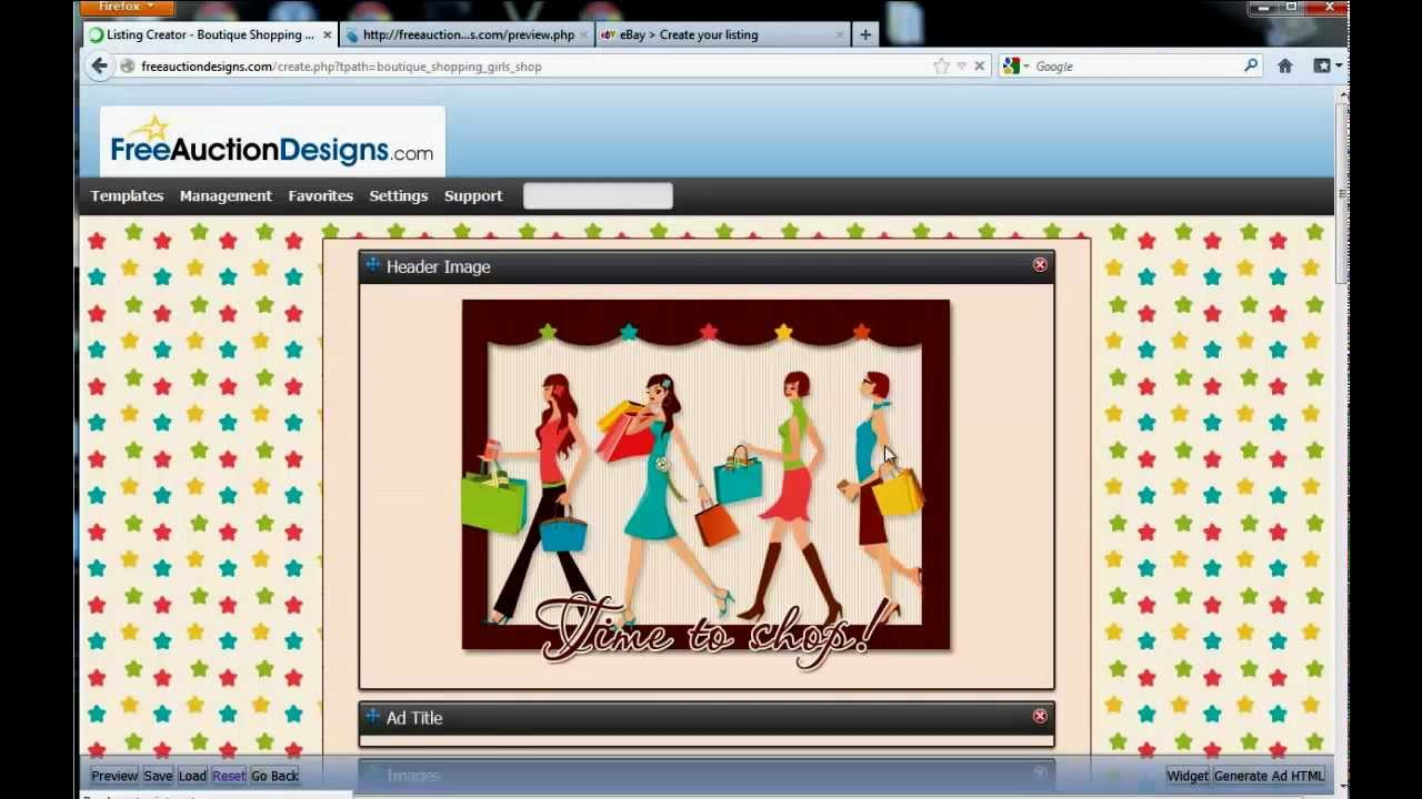FreeAuctionDesigns How to create a listing template for your ...