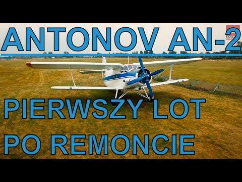 #Start i #lądowanie #samolot #AN-2, wyremontowany dwupłatowiec ma nowe życie. Lot Wrocław-Jaworzyna
