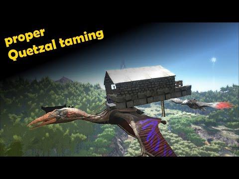 ARK Survival Evolved: Legit Quetzal Taming (sort Of)