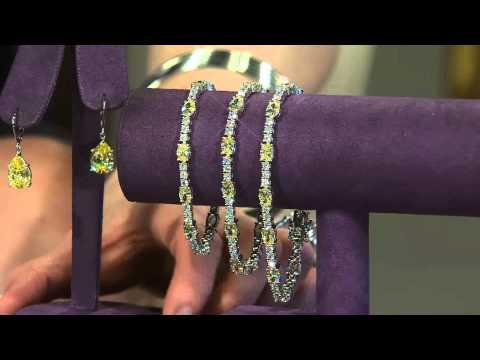 The Elizabeth Taylor Simulated Canary Diamond Tennis Bracelet with Mary Beth Roe