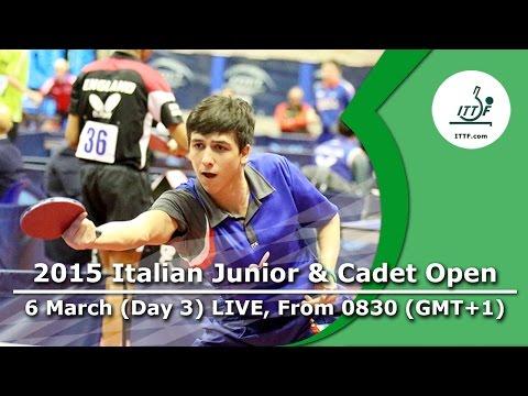 ITTF Italian Junior & Cadet Open – Day 3 LIVE