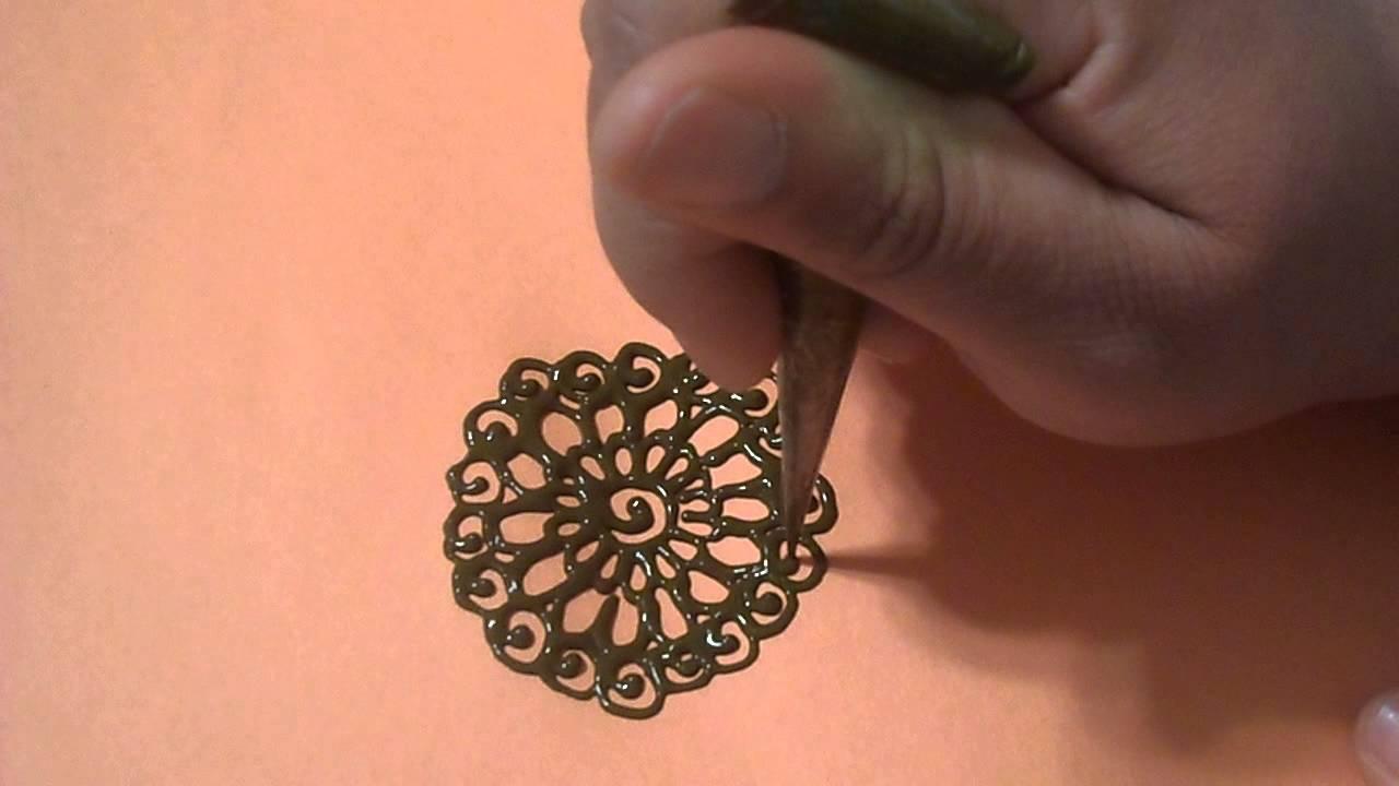 Henna Tutorial Quick Mandala Design Youtube