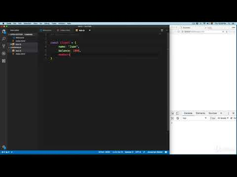Modern JavaScript The Complete Course - Build +10 Projects : Object Literals