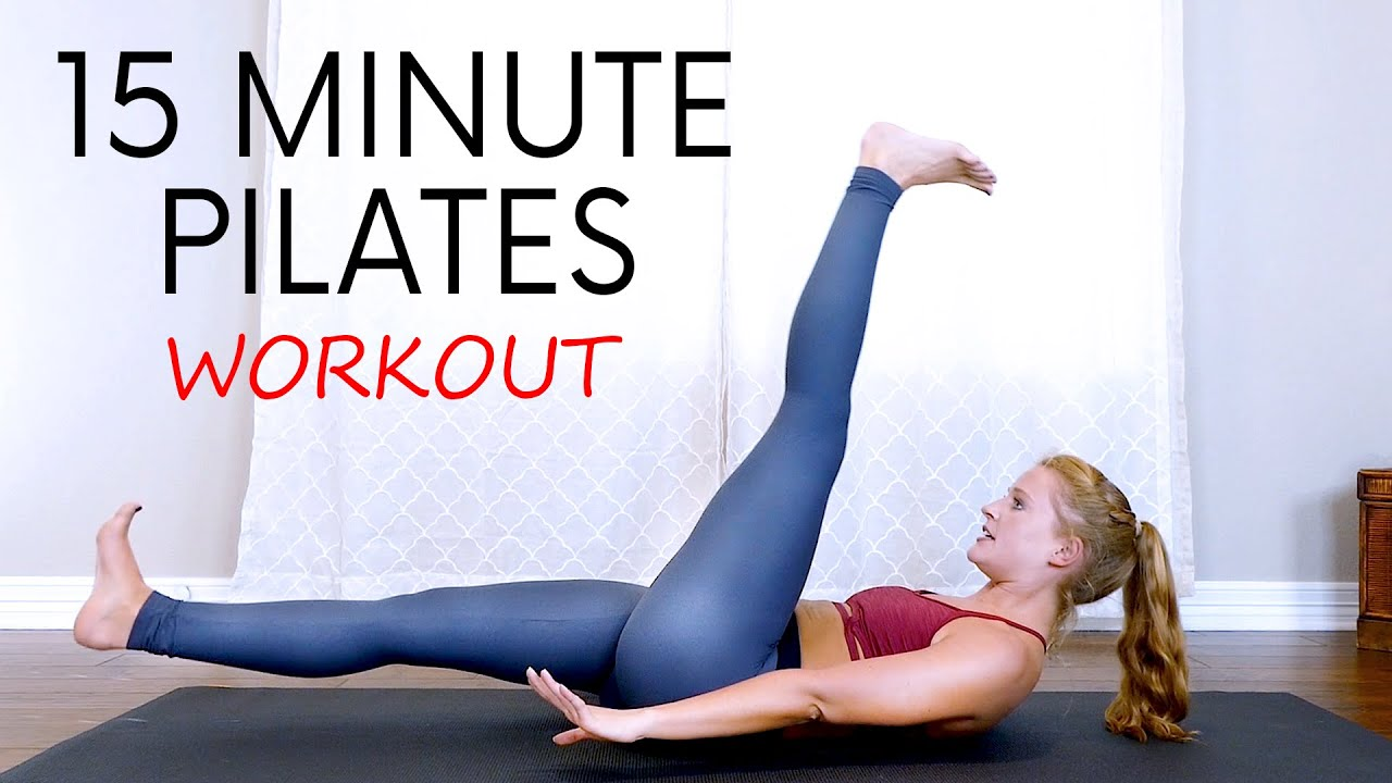 15 Minute Pilates for Lower Abs, Belly Fat Workout, Flat Tummy, Slim Waist, Trouble Spot with Banks