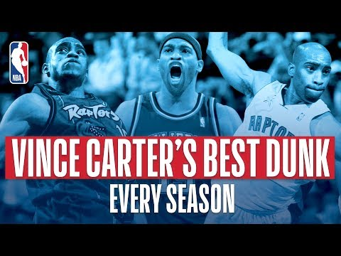 Vince Carter BEST Dunk Each Year In The NBA!