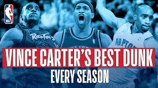 Vince Carter BEST Dunk Each Year In The NBA! Video
