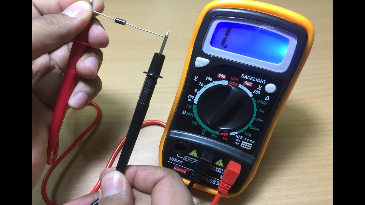 how to test diodes using a digital multimeter [ 1280 x 720 Pixel ]