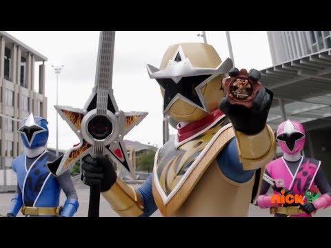 "Power Rangers Ninja Steel - Gold Ranger to the Rescue   Halloween Episode ""Grave Robber"""