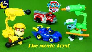 NEW Paw Patrol The Movie Toys Rubble Rocky Pups Race Track Playset Mega Bloks Liberty Kids Toy Video