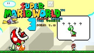 Super Mario World 3 - Mario saves the Yoshis   Super Mario World ROM Hack (スーパーマリオワールド)