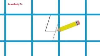 Учимся писать цифру 4. Развивающие Мультфильмы для детей