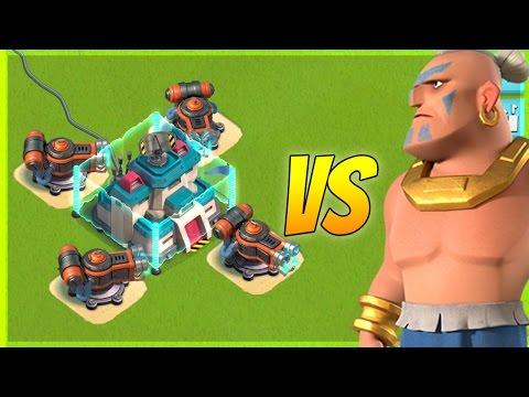 Boom Beach Warriors vs Flamethrower and Machine Gun! Which Defense is WORST?!