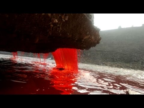 Mystery of Antarctica's Blood Falls finally solved HD - YouTube