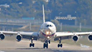 Оглушительный ревущий громкий взлёт. Ил-96 Ил-76 Ту-204.