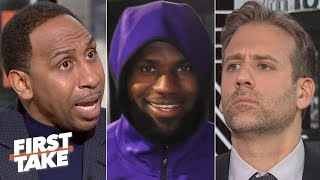 Download Stephen A. blasts Max Kellerman for telling LeBron to load manage when he's healthy | First Take Mp3 and Videos