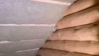 видео Утепление крыши деревянного дома