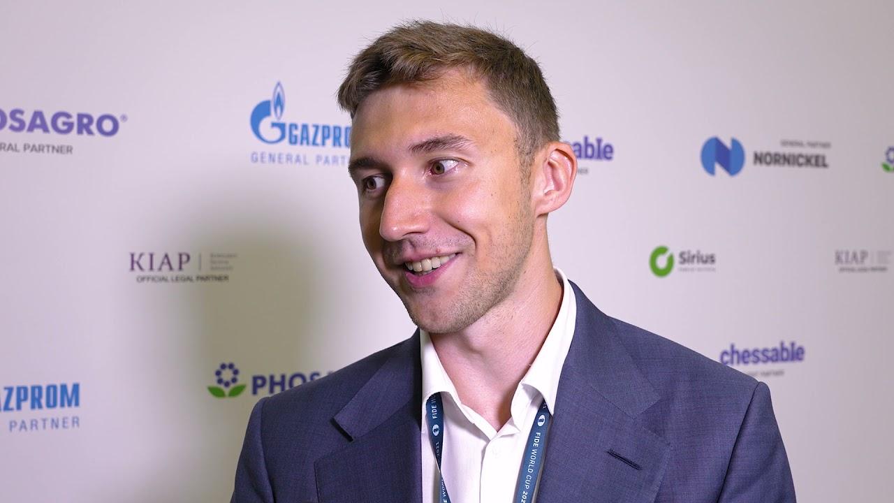 FIDE World Cup | Round 4 | Interview with Sergey Karjakin