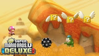 New Super Mario Bros U Deluxe - Walkthrough Part 11 - Layer Cake Desert 4 - Spike's Spouting Sands
