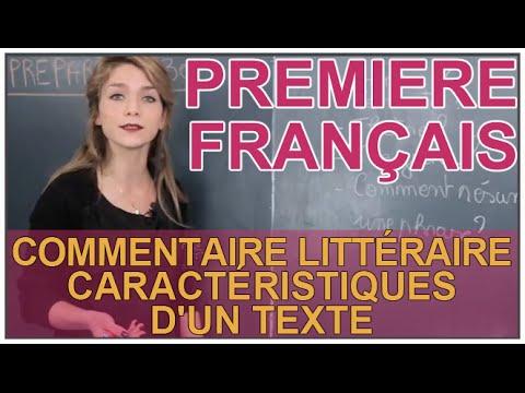 Commentaire littéraire - Caractéristiques d'un texte - Français 1ère - Les Bons Profs
