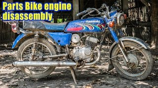 kawasaki HD3 2stroke Scrambler Build Part 2