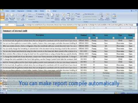 Internal Audit Report Updating Automatically - Youtube