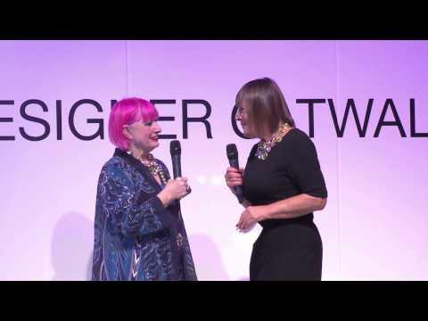 Zandra Rhodes Trend Presentation at Clothes Show Live 2014 - Clothes Show TV