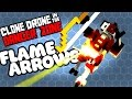 CAN A BOW KILL THEM?! - Clone Drone Bow Only Challenge & Unlocking Flame Arrows
